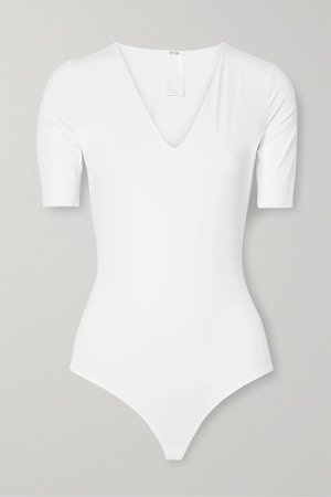 White Vermont stretch-jersey thong bodysuit | Wolford | NET-A-PORTER