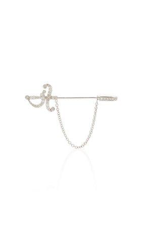 Yvonne Leon 18K Gold Diamond Earring