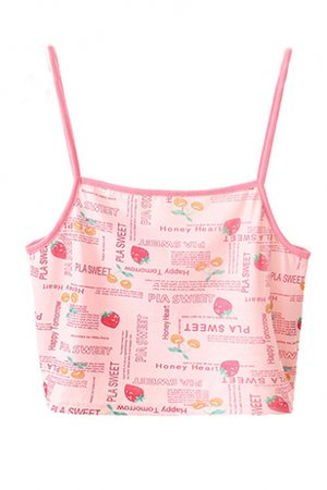 Cropped pink camisole