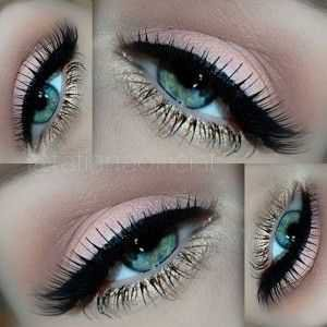blue gold eyeshadow - Google Search