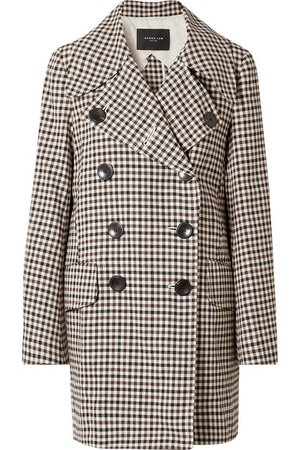 Derek Lam | Double-breasted gingham woven coat | NET-A-PORTER.COM