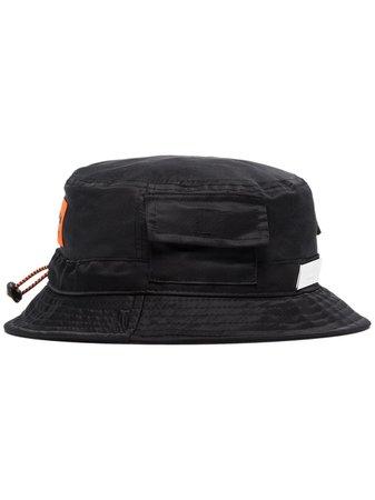 Heron Preston Logo-Appliqued Bucket Hat HMLB005S209390071000 Black | Farfetch