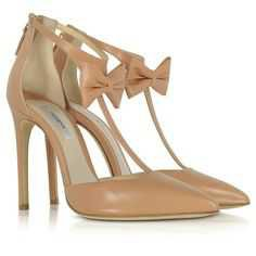 Olgana Paris Shoes La Garconne Nude Leather High-Heel Pump