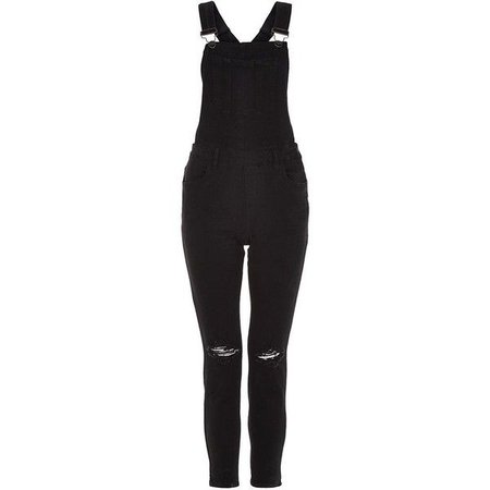 black ripped overalls - Google Search