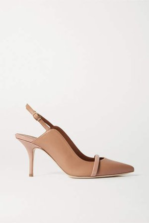 Marion 70 Leather Slingback Pumps - Neutral