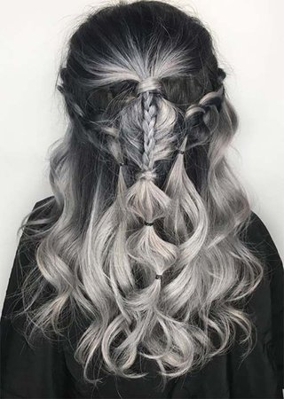 black to grey ombre - Google Search