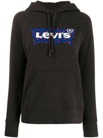 Levi's leopard-print Logo Hoodie - Farfetch