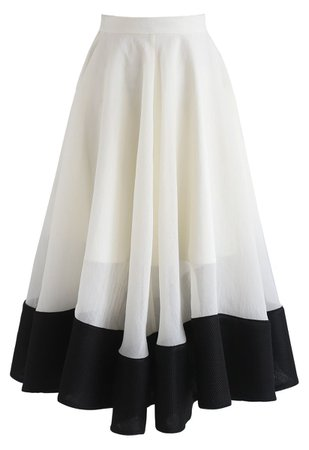 Chic Wish Swing In the Breeze Organza Midi Skirt - Retro, Indie and Unique Fashion
