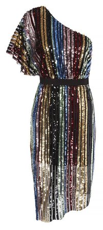 One shoulder sequin dress, V by Very