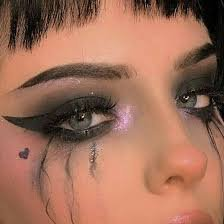 edgy heart makeup - Google Search
