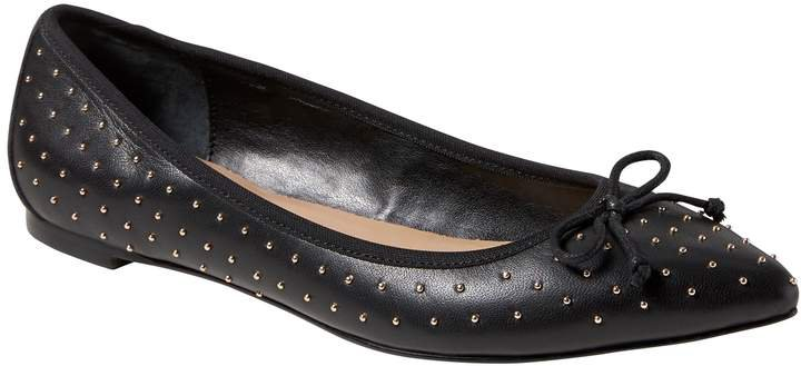 Robin Pointed-Toe Studded Ballet Flat