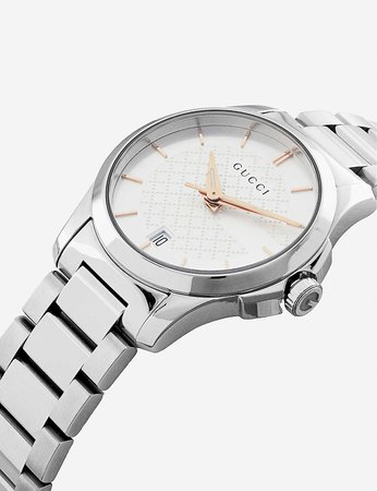 GUCCI - YA126523 G-Timeless stainless steel watch | Selfridges.com