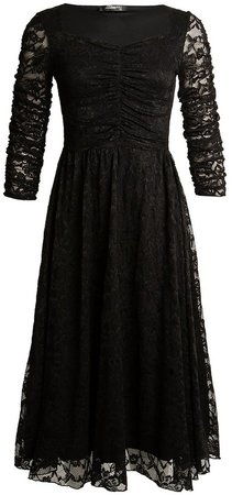 *Feverfish Black Flared Dress
