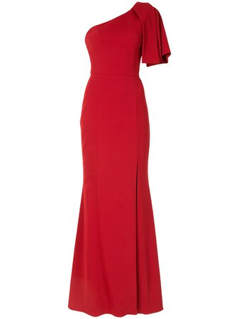 Shop red Ginger & Smart Equinox slit detail gown with Express Delivery - Farfetch