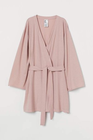 Ribbed Bathrobe - Pink