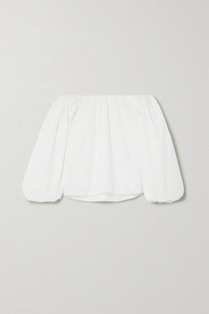 White Off-the-shoulder cotton-poplin blouse | Alaïa | NET-A-PORTER