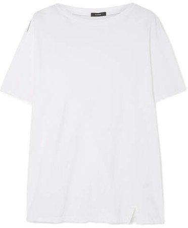 Organic Stretch-cotton Jersey T-shirt - White