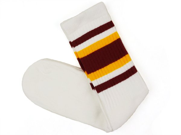 maroon knee high socks with gold - Google Search