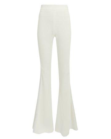 Lorena White Flare Pants