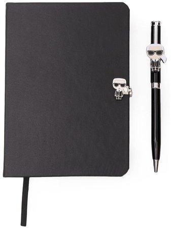 Karl Lagerfeld K/ikonik Notebook/pen Giftset 96KW3910999 Black   Farfetch