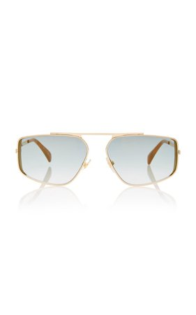 Metal Aviator-Style Sunglasses by Givenchy | Moda Operandi
