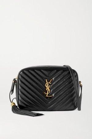 Lou Medium Quilted Leather Shoulder Bag - Black