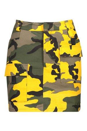 Camo Cargo Pocket Mini Skirt | Boohoo