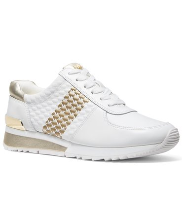 white Michael Kors Women's Allie Wrap Trainer Sneakers & Reviews - Athletic Shoes & Sneakers - Shoes - Macy's