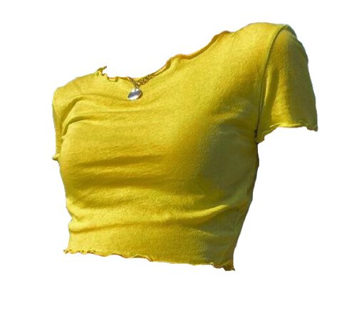 crop shirt yellow clothes cute aesthetic top