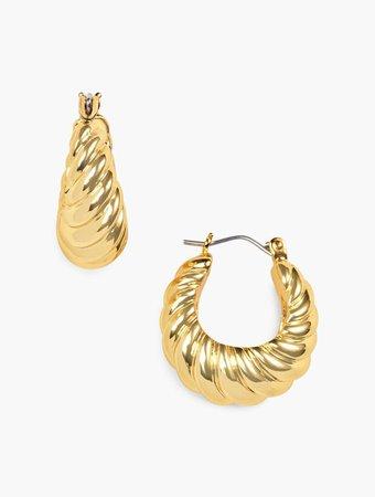 Twist Hoop Earrings | Talbots