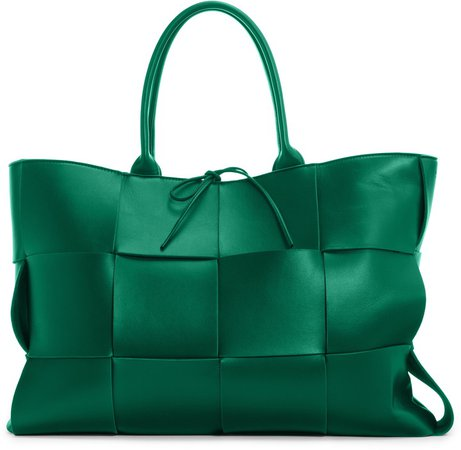 Large Arco Intrecciato Metallic Leather Tote
