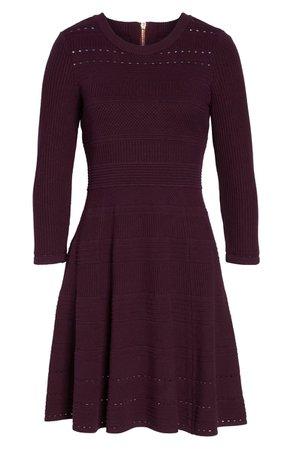 Eliza J Fit & Flare Sweater Dress   Nordstrom