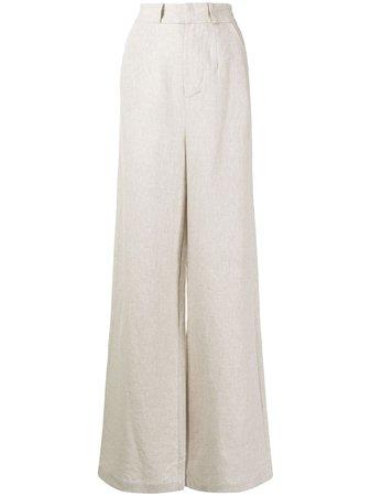Rachel Gilbert wide-leg Linen Trousers - Farfetch