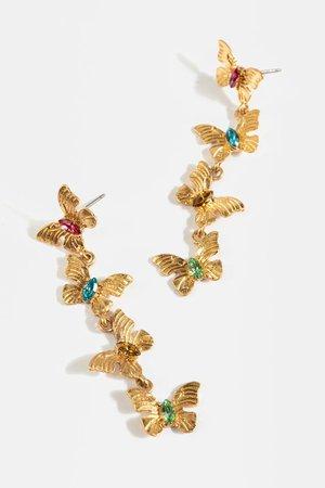 Beatrice Butterfly Linear Earrings   francesca's