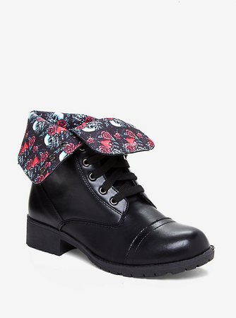 Disney Snow White And The Seven Dwarfs Poison Apple Combat Boots