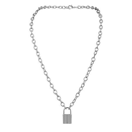 Amazon.com: Afazfa💗💗NEW Lock Pendant Padlock Charm Necklace Chain Women Jewelry Gift (Silver): Jewelry