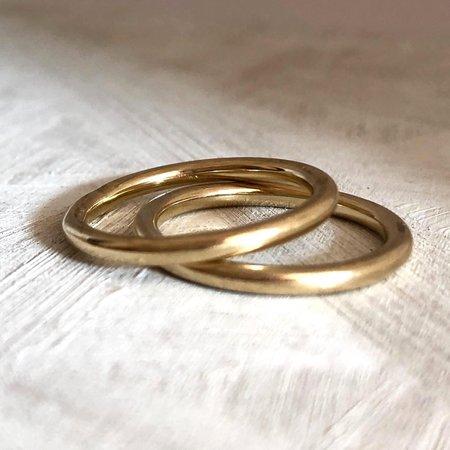 Eco Friendly Gold Ring - Minimal Handmade Gold Halo Ring UK