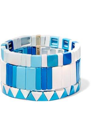 Roxanne Assoulin | Mykonos set of three enamel bracelets | NET-A-PORTER.COM
