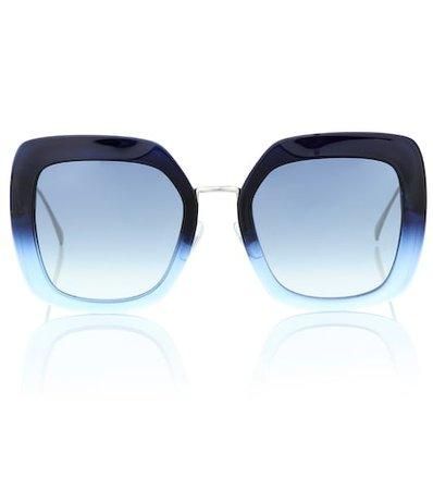Tropical Shine square sunglasses