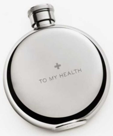 to my health flask silver grey gray drink drinks alcohol booze wine drunk alcoholic cup glass mug