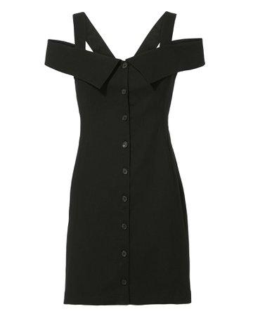 Graham Off Shoulder Black Mini Dress | A.L.C.