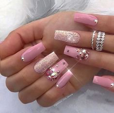 Pinterest - The Most Ignored Fact About Acrylic Nails with Rhinestones Coffin Pink Explained - akkrab.com | Nail