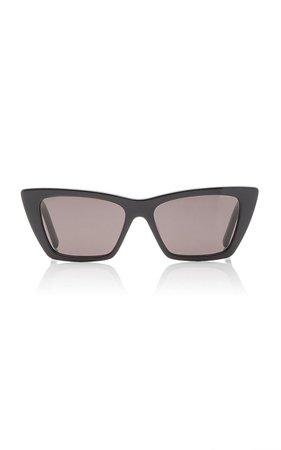 Mica Cat-Eye Acetate Sunglasses By Saint Laurent | Moda Operandi