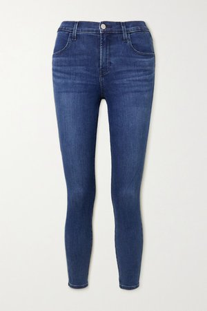 Alana Cropped High-rise Skinny Jeans - Mid denim