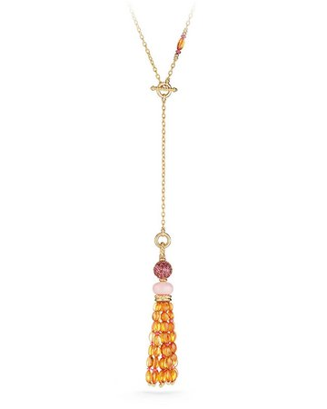 David Yurman Mustique Pink Opal & Citrine Tassel Necklace | Neiman Marcus