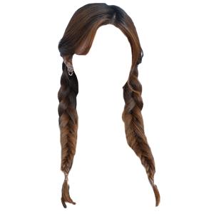 brown hair png twin braids