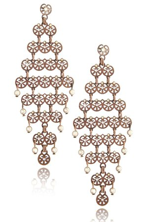 LK DESIGNS Bronze Chandelier Earrings – PRET-A-BEAUTE.COM