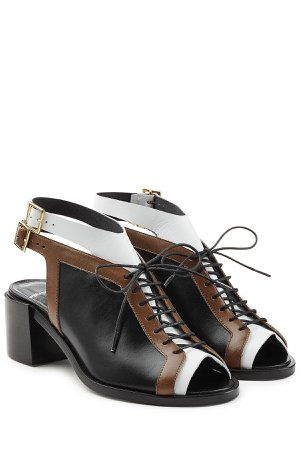 Colorblock Open Toe Sandals Gr. FR 36