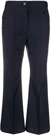 Cropped Bell Flare Trousers