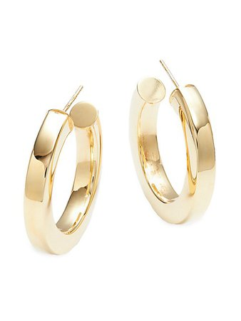 SPHERA MILANO Goldplated Hoop Earrings on SALE | Saks OFF 5TH